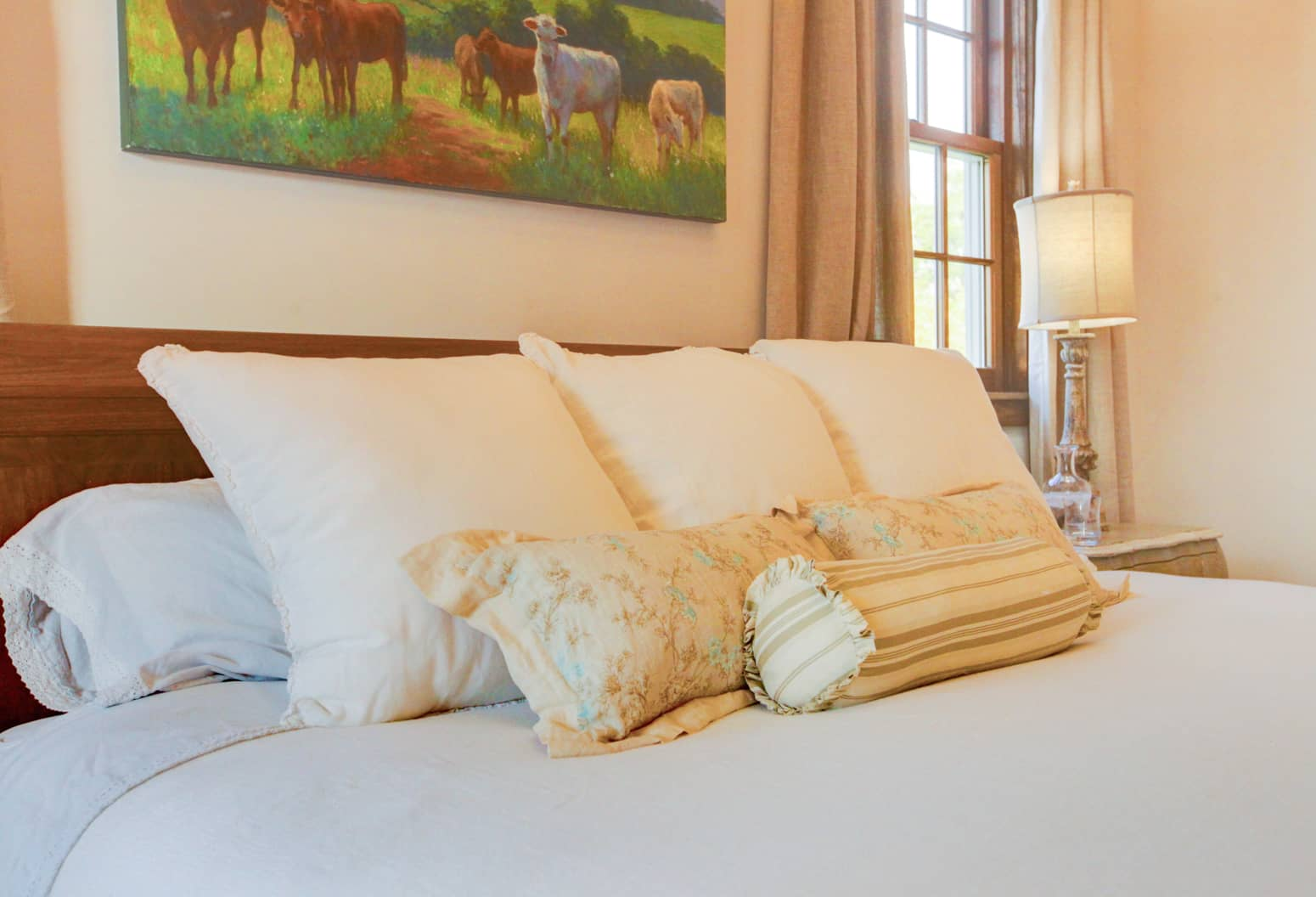 Lexington, Virginia Bed and Breakfast - Room with Beautiful Pillows