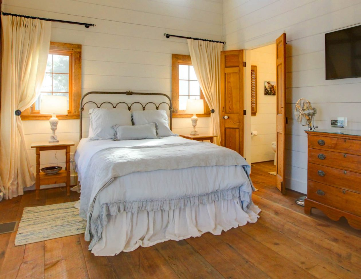 Beautiful room at a Shenandoah Valley Bed and Breakfast - bed, tv, dresser