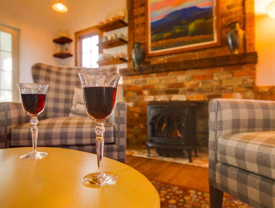 Seating Area & Fireplace at a Lexington, VA Inn