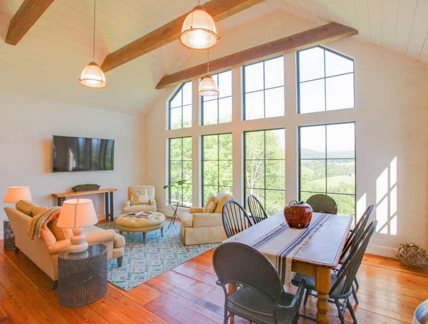 The Lodge Spacious Living Room at a VA B&B