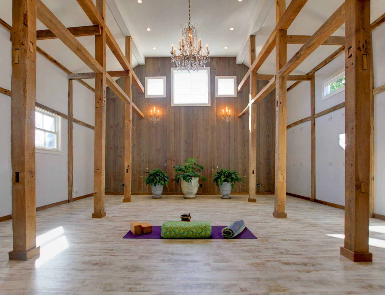 Yoga Barn at a Southern Virginia Bed and Breakfast
